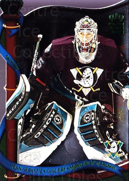 2001-02 Crown Royale Retail #3 Jean-Sebastien Giguere<br/>4 In Stock - $1.00 each - <a href=https://centericecollectibles.foxycart.com/cart?name=2001-02%20Crown%20Royale%20Retail%20%233%20Jean-Sebastien%20...&quantity_max=4&price=$1.00&code=426093 class=foxycart> Buy it now! </a>