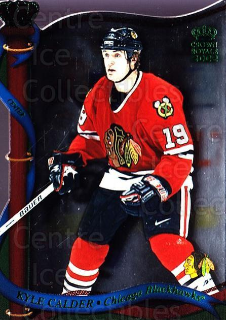 2001-02 Crown Royale Retail #31 Kyle Calder<br/>6 In Stock - $1.00 each - <a href=https://centericecollectibles.foxycart.com/cart?name=2001-02%20Crown%20Royale%20Retail%20%2331%20Kyle%20Calder...&quantity_max=6&price=$1.00&code=426095 class=foxycart> Buy it now! </a>