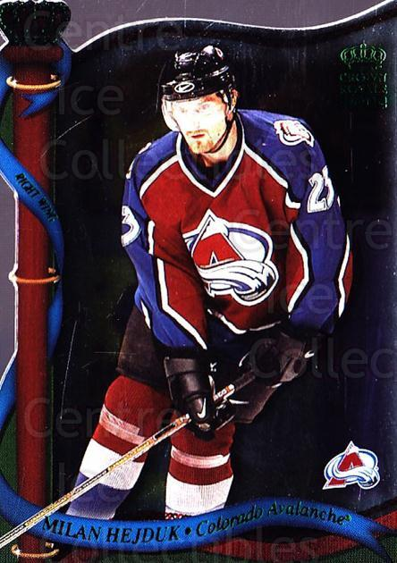 2001-02 Crown Royale Retail #38 Milan Hejduk<br/>7 In Stock - $1.00 each - <a href=https://centericecollectibles.foxycart.com/cart?name=2001-02%20Crown%20Royale%20Retail%20%2338%20Milan%20Hejduk...&quantity_max=7&price=$1.00&code=426101 class=foxycart> Buy it now! </a>