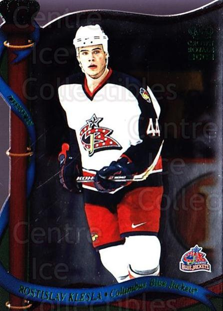 2001-02 Crown Royale Retail #43 Rostislav Klesla<br/>5 In Stock - $1.00 each - <a href=https://centericecollectibles.foxycart.com/cart?name=2001-02%20Crown%20Royale%20Retail%20%2343%20Rostislav%20Klesl...&quantity_max=5&price=$1.00&code=426104 class=foxycart> Buy it now! </a>