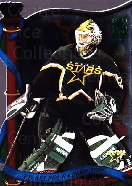 2001-02 Crown Royale Retail #46 Ed Belfour<br/>3 In Stock - $1.00 each - <a href=https://centericecollectibles.foxycart.com/cart?name=2001-02%20Crown%20Royale%20Retail%20%2346%20Ed%20Belfour...&quantity_max=3&price=$1.00&code=426105 class=foxycart> Buy it now! </a>