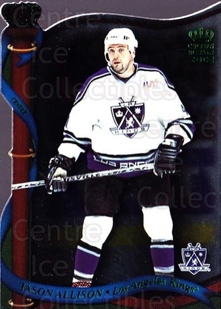 2001-02 Crown Royale Retail #66 Jason Allison<br/>7 In Stock - $1.00 each - <a href=https://centericecollectibles.foxycart.com/cart?name=2001-02%20Crown%20Royale%20Retail%20%2366%20Jason%20Allison...&quantity_max=7&price=$1.00&code=426118 class=foxycart> Buy it now! </a>