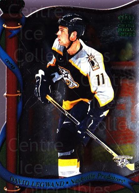 2001-02 Crown Royale Retail #81 David Legwand<br/>8 In Stock - $1.00 each - <a href=https://centericecollectibles.foxycart.com/cart?name=2001-02%20Crown%20Royale%20Retail%20%2381%20David%20Legwand...&quantity_max=8&price=$1.00&code=426134 class=foxycart> Buy it now! </a>