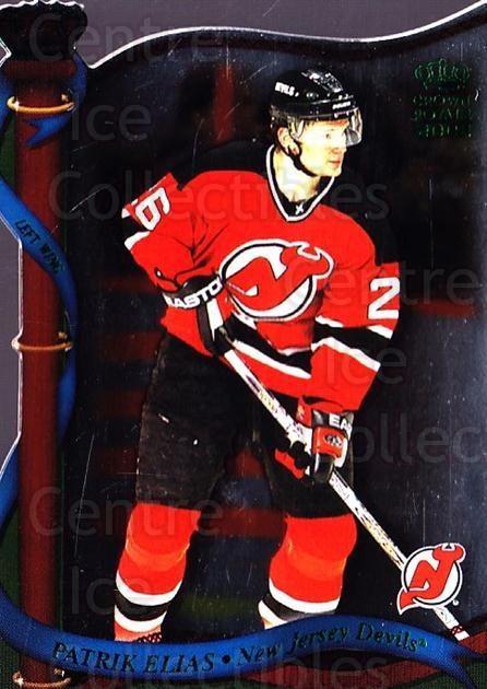 2001-02 Crown Royale Retail #86 Patrik Elias<br/>5 In Stock - $1.00 each - <a href=https://centericecollectibles.foxycart.com/cart?name=2001-02%20Crown%20Royale%20Retail%20%2386%20Patrik%20Elias...&quantity_max=5&price=$1.00&code=426138 class=foxycart> Buy it now! </a>
