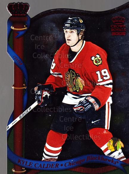 2001-02 Crown Royale Red #31 Kyle Calder<br/>1 In Stock - $5.00 each - <a href=https://centericecollectibles.foxycart.com/cart?name=2001-02%20Crown%20Royale%20Red%20%2331%20Kyle%20Calder...&quantity_max=1&price=$5.00&code=426403 class=foxycart> Buy it now! </a>