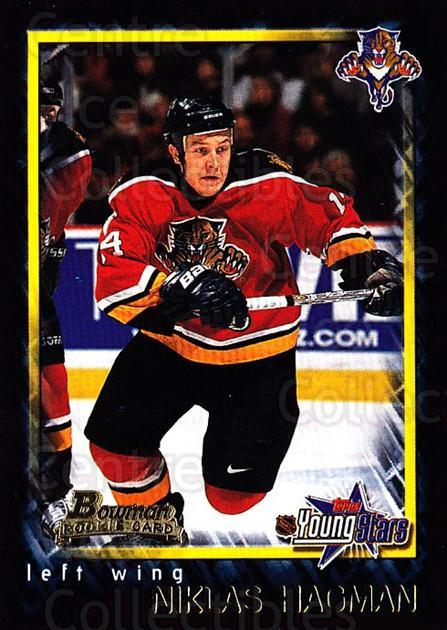 2001-02 Bowman YoungStars #150 Niklas Hagman<br/>1 In Stock - $1.00 each - <a href=https://centericecollectibles.foxycart.com/cart?name=2001-02%20Bowman%20YoungStars%20%23150%20Niklas%20Hagman...&quantity_max=1&price=$1.00&code=426727 class=foxycart> Buy it now! </a>