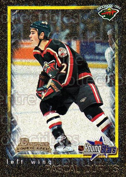 2001-02 Bowman YoungStars Gold #132 Pascal Dupuis<br/>1 In Stock - $3.00 each - <a href=https://centericecollectibles.foxycart.com/cart?name=2001-02%20Bowman%20YoungStars%20Gold%20%23132%20Pascal%20Dupuis...&quantity_max=1&price=$3.00&code=426772 class=foxycart> Buy it now! </a>