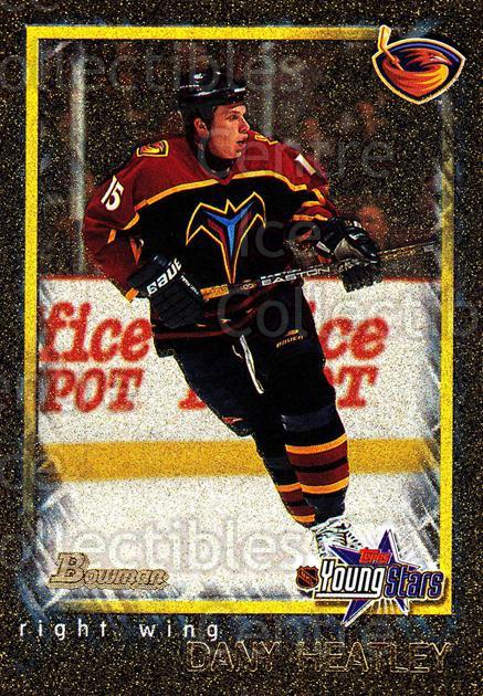 2001-02 Bowman YoungStars Gold #134 Dany Heatley<br/>1 In Stock - $3.00 each - <a href=https://centericecollectibles.foxycart.com/cart?name=2001-02%20Bowman%20YoungStars%20Gold%20%23134%20Dany%20Heatley...&quantity_max=1&price=$3.00&code=426774 class=foxycart> Buy it now! </a>