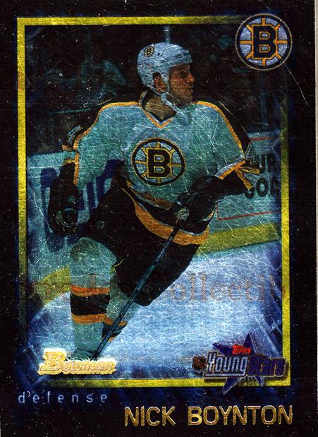 2001-02 Bowman YoungStars Ice Cubed #127 Nick Boynton<br/>1 In Stock - $2.00 each - <a href=https://centericecollectibles.foxycart.com/cart?name=2001-02%20Bowman%20YoungStars%20Ice%20Cubed%20%23127%20Nick%20Boynton...&quantity_max=1&price=$2.00&code=426931 class=foxycart> Buy it now! </a>
