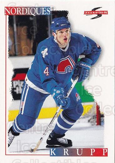 1995-96 Score #108 Uwe Krupp<br/>1 In Stock - $1.00 each - <a href=https://centericecollectibles.foxycart.com/cart?name=1995-96%20Score%20%23108%20Uwe%20Krupp...&quantity_max=1&price=$1.00&code=42841 class=foxycart> Buy it now! </a>
