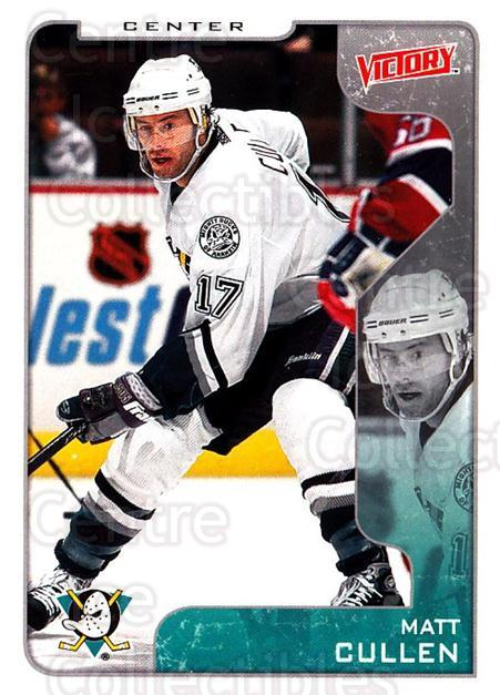 2001-02 UD Victory #4 Matt Cullen<br/>6 In Stock - $1.00 each - <a href=https://centericecollectibles.foxycart.com/cart?name=2001-02%20UD%20Victory%20%234%20Matt%20Cullen...&quantity_max=6&price=$1.00&code=428712 class=foxycart> Buy it now! </a>