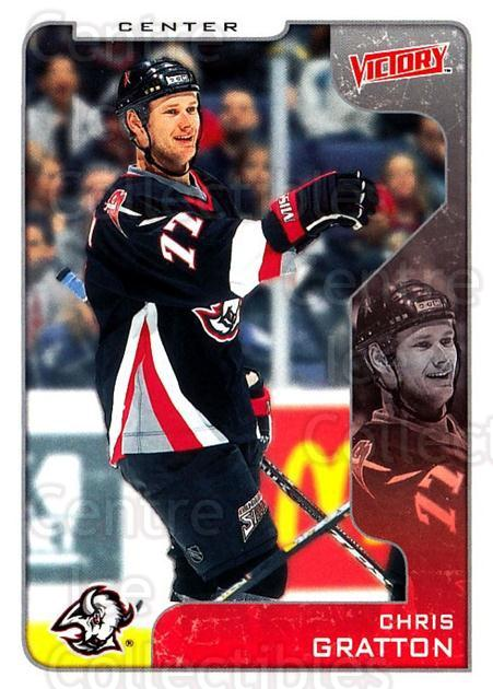 2001-02 UD Victory #46 Chris Gratton<br/>2 In Stock - $1.00 each - <a href=https://centericecollectibles.foxycart.com/cart?name=2001-02%20UD%20Victory%20%2346%20Chris%20Gratton...&quantity_max=2&price=$1.00&code=428754 class=foxycart> Buy it now! </a>