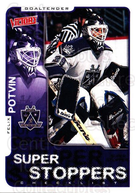 2001-02 UD Victory #158 Felix Potvin<br/>3 In Stock - $1.00 each - <a href=https://centericecollectibles.foxycart.com/cart?name=2001-02%20UD%20Victory%20%23158%20Felix%20Potvin...&quantity_max=3&price=$1.00&code=428866 class=foxycart> Buy it now! </a>