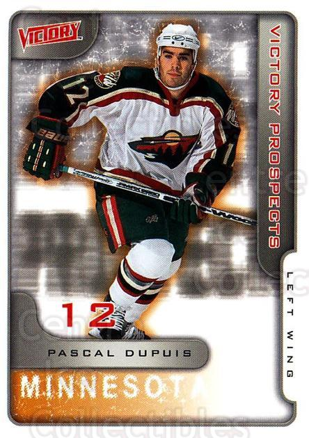 2001-02 UD Victory #375 Pascal Dupuis<br/>1 In Stock - $2.00 each - <a href=https://centericecollectibles.foxycart.com/cart?name=2001-02%20UD%20Victory%20%23375%20Pascal%20Dupuis...&quantity_max=1&price=$2.00&code=429083 class=foxycart> Buy it now! </a>