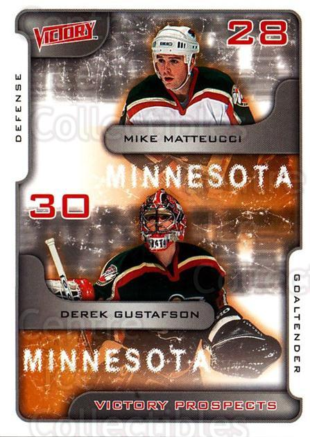 2001-02 UD Victory #376 Mike Matteucci, Derek Gustafson<br/>4 In Stock - $2.00 each - <a href=https://centericecollectibles.foxycart.com/cart?name=2001-02%20UD%20Victory%20%23376%20Mike%20Matteucci,...&quantity_max=4&price=$2.00&code=429084 class=foxycart> Buy it now! </a>