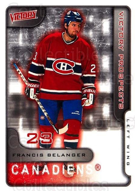 2001-02 UD Victory #377 Francis Belanger<br/>1 In Stock - $2.00 each - <a href=https://centericecollectibles.foxycart.com/cart?name=2001-02%20UD%20Victory%20%23377%20Francis%20Belange...&quantity_max=1&price=$2.00&code=429085 class=foxycart> Buy it now! </a>