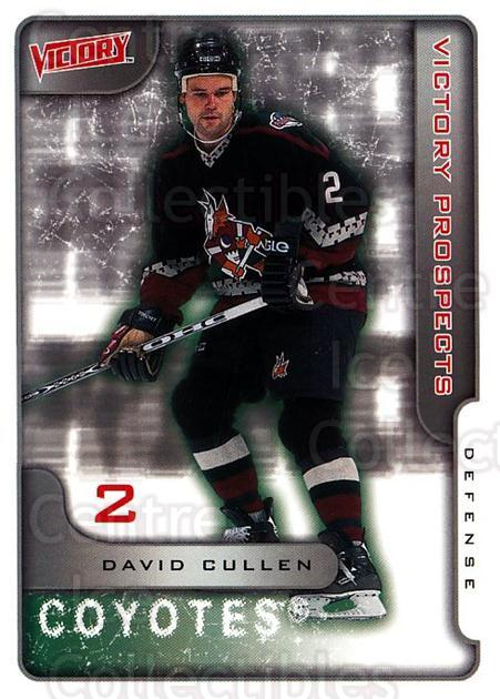 2001-02 UD Victory #384 David Cullen<br/>1 In Stock - $2.00 each - <a href=https://centericecollectibles.foxycart.com/cart?name=2001-02%20UD%20Victory%20%23384%20David%20Cullen...&quantity_max=1&price=$2.00&code=429092 class=foxycart> Buy it now! </a>