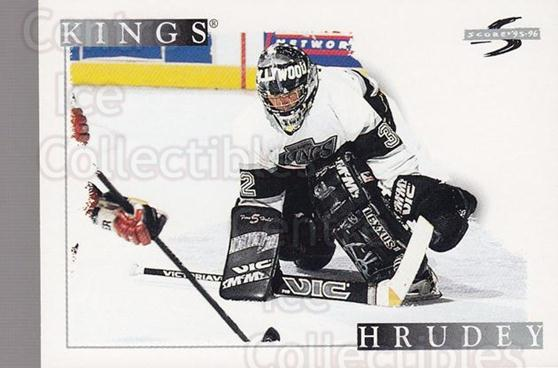 1995-96 Score #198 Kelly Hrudey<br/>4 In Stock - $1.00 each - <a href=https://centericecollectibles.foxycart.com/cart?name=1995-96%20Score%20%23198%20Kelly%20Hrudey...&quantity_max=4&price=$1.00&code=42940 class=foxycart> Buy it now! </a>