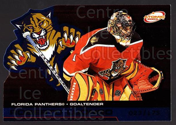 2002-03 Atomic Blue #46 Roberto Luongo<br/>1 In Stock - $3.00 each - <a href=https://centericecollectibles.foxycart.com/cart?name=2002-03%20Atomic%20Blue%20%2346%20Roberto%20Luongo...&quantity_max=1&price=$3.00&code=429755 class=foxycart> Buy it now! </a>