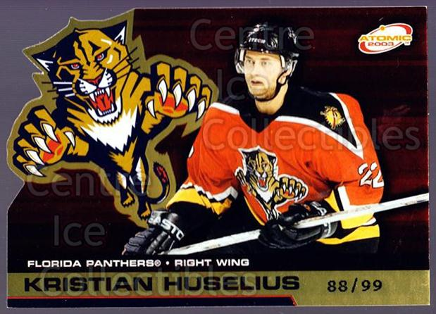 2002-03 Atomic Gold #45 Kristian Huselius<br/>1 In Stock - $5.00 each - <a href=https://centericecollectibles.foxycart.com/cart?name=2002-03%20Atomic%20Gold%20%2345%20Kristian%20Huseli...&quantity_max=1&price=$5.00&code=429819 class=foxycart> Buy it now! </a>