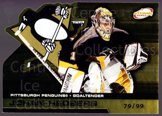 2002-03 Atomic Gold #79 Johan Hedberg<br/>1 In Stock - $5.00 each - <a href=https://centericecollectibles.foxycart.com/cart?name=2002-03%20Atomic%20Gold%20%2379%20Johan%20Hedberg...&quantity_max=1&price=$5.00&code=429851 class=foxycart> Buy it now! </a>