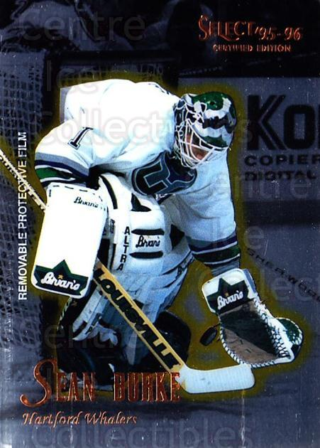 1995-96 Select Certified #100 Sean Burke<br/>5 In Stock - $1.00 each - <a href=https://centericecollectibles.foxycart.com/cart?name=1995-96%20Select%20Certified%20%23100%20Sean%20Burke...&quantity_max=5&price=$1.00&code=43098 class=foxycart> Buy it now! </a>