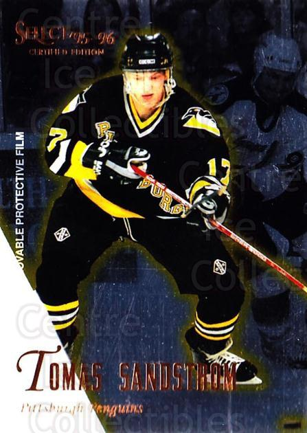 1995-96 Select Certified #107 Tomas Sandstrom<br/>5 In Stock - $1.00 each - <a href=https://centericecollectibles.foxycart.com/cart?name=1995-96%20Select%20Certified%20%23107%20Tomas%20Sandstrom...&quantity_max=5&price=$1.00&code=43105 class=foxycart> Buy it now! </a>