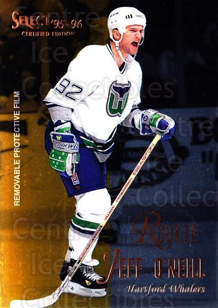 1995-96 Select Certified #118 Jeff O'Neill<br/>5 In Stock - $1.00 each - <a href=https://centericecollectibles.foxycart.com/cart?name=1995-96%20Select%20Certified%20%23118%20Jeff%20O'Neill...&quantity_max=5&price=$1.00&code=43117 class=foxycart> Buy it now! </a>