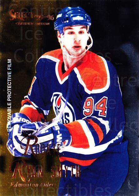 1995-96 Select Certified #121 Ryan Smyth<br/>4 In Stock - $1.00 each - <a href=https://centericecollectibles.foxycart.com/cart?name=1995-96%20Select%20Certified%20%23121%20Ryan%20Smyth...&quantity_max=4&price=$1.00&code=43121 class=foxycart> Buy it now! </a>