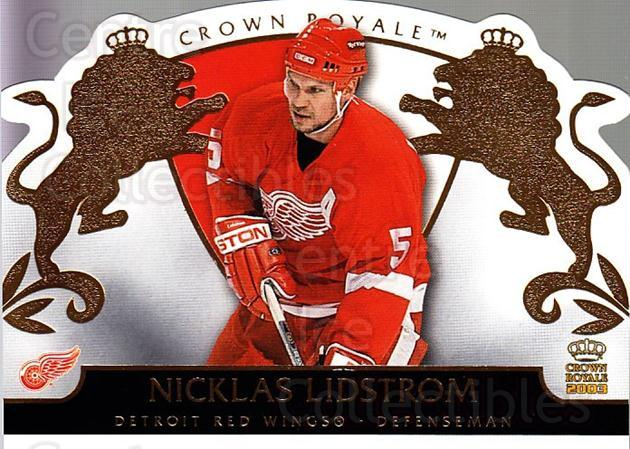 2002-03 Crown Royale #35 Nicklas Lidstrom<br/>1 In Stock - $2.00 each - <a href=https://centericecollectibles.foxycart.com/cart?name=2002-03%20Crown%20Royale%20%2335%20Nicklas%20Lidstro...&quantity_max=1&price=$2.00&code=431275 class=foxycart> Buy it now! </a>