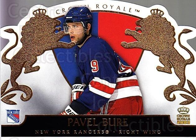 2002-03 Crown Royale #63 Pavel Bure<br/>1 In Stock - $2.00 each - <a href=https://centericecollectibles.foxycart.com/cart?name=2002-03%20Crown%20Royale%20%2363%20Pavel%20Bure...&quantity_max=1&price=$2.00&code=431278 class=foxycart> Buy it now! </a>