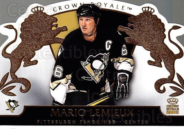2002-03 Crown Royale #78 Mario Lemieux<br/>1 In Stock - $5.00 each - <a href=https://centericecollectibles.foxycart.com/cart?name=2002-03%20Crown%20Royale%20%2378%20Mario%20Lemieux...&quantity_max=1&price=$5.00&code=431279 class=foxycart> Buy it now! </a>