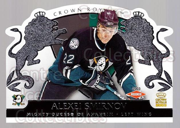 2002-03 Crown Royale Retail #103 Alexei Smirnov<br/>2 In Stock - $3.00 each - <a href=https://centericecollectibles.foxycart.com/cart?name=2002-03%20Crown%20Royale%20Retail%20%23103%20Alexei%20Smirnov...&quantity_max=2&price=$3.00&code=431289 class=foxycart> Buy it now! </a>