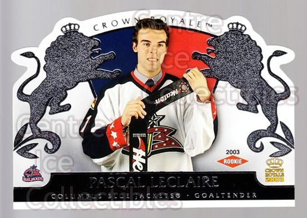 2002-03 Crown Royale Retail #108 Pascal Leclaire<br/>3 In Stock - $3.00 each - <a href=https://centericecollectibles.foxycart.com/cart?name=2002-03%20Crown%20Royale%20Retail%20%23108%20Pascal%20Leclaire...&quantity_max=3&price=$3.00&code=431292 class=foxycart> Buy it now! </a>