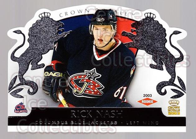 2002-03 Crown Royale Retail #109 Rick Nash<br/>3 In Stock - $10.00 each - <a href=https://centericecollectibles.foxycart.com/cart?name=2002-03%20Crown%20Royale%20Retail%20%23109%20Rick%20Nash...&quantity_max=3&price=$10.00&code=431293 class=foxycart> Buy it now! </a>