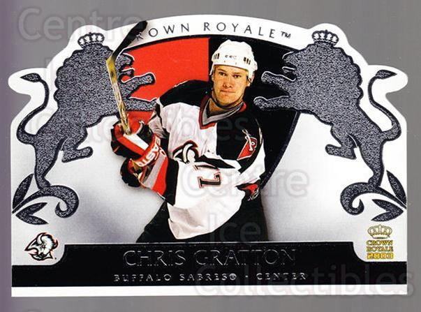 2002-03 Crown Royale Retail #11 Chris Gratton<br/>3 In Stock - $1.00 each - <a href=https://centericecollectibles.foxycart.com/cart?name=2002-03%20Crown%20Royale%20Retail%20%2311%20Chris%20Gratton...&quantity_max=3&price=$1.00&code=431294 class=foxycart> Buy it now! </a>