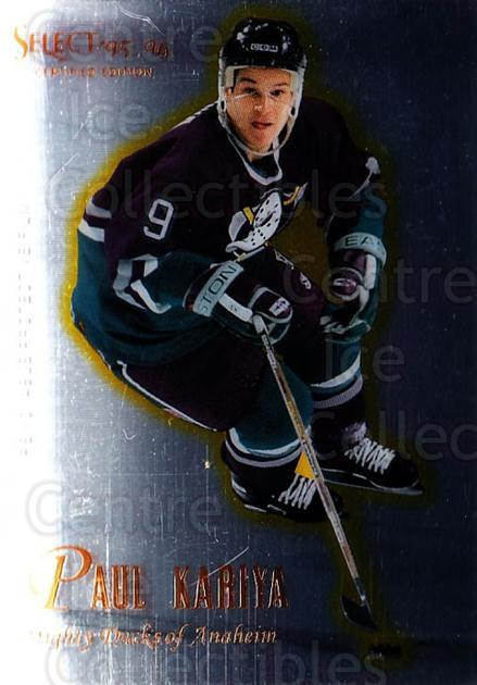 1995-96 Select Certified #13 Paul Kariya<br/>4 In Stock - $1.00 each - <a href=https://centericecollectibles.foxycart.com/cart?name=1995-96%20Select%20Certified%20%2313%20Paul%20Kariya...&quantity_max=4&price=$1.00&code=43129 class=foxycart> Buy it now! </a>