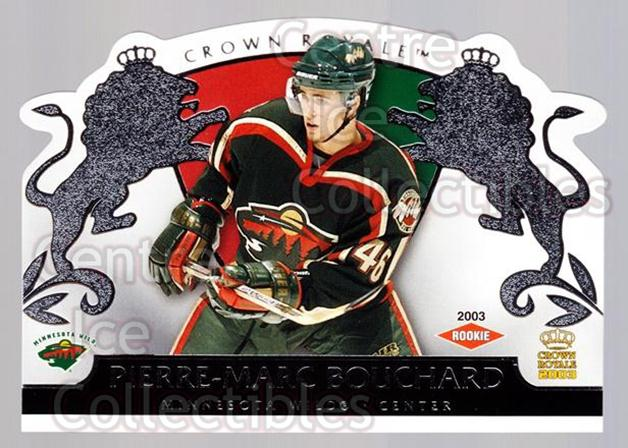 2002-03 Crown Royale Retail #119 Pierre-Marc Bouchard<br/>2 In Stock - $3.00 each - <a href=https://centericecollectibles.foxycart.com/cart?name=2002-03%20Crown%20Royale%20Retail%20%23119%20Pierre-Marc%20Bou...&quantity_max=2&price=$3.00&code=431303 class=foxycart> Buy it now! </a>
