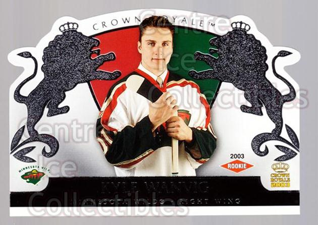 2002-03 Crown Royale Retail #121 Kyle Wanvig<br/>3 In Stock - $3.00 each - <a href=https://centericecollectibles.foxycart.com/cart?name=2002-03%20Crown%20Royale%20Retail%20%23121%20Kyle%20Wanvig...&quantity_max=3&price=$3.00&code=431306 class=foxycart> Buy it now! </a>