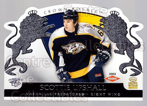 2002-03 Crown Royale Retail #125 Scottie Upshall<br/>2 In Stock - $3.00 each - <a href=https://centericecollectibles.foxycart.com/cart?name=2002-03%20Crown%20Royale%20Retail%20%23125%20Scottie%20Upshall...&quantity_max=2&price=$3.00&code=431310 class=foxycart> Buy it now! </a>