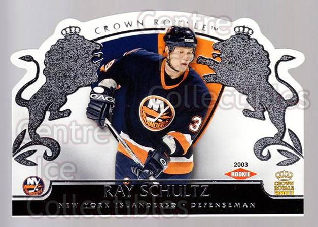 2002-03 Crown Royale Retail #126 Ray Schultz<br/>3 In Stock - $3.00 each - <a href=https://centericecollectibles.foxycart.com/cart?name=2002-03%20Crown%20Royale%20Retail%20%23126%20Ray%20Schultz...&quantity_max=3&price=$3.00&code=431311 class=foxycart> Buy it now! </a>