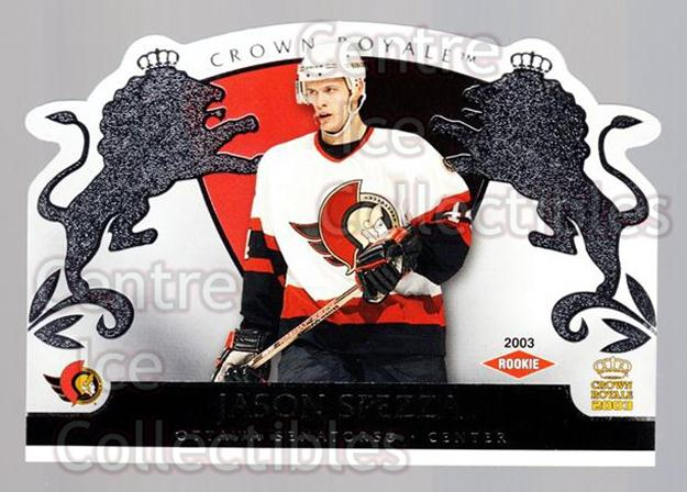 2002-03 Crown Royale Retail #127 Jason Spezza<br/>2 In Stock - $5.00 each - <a href=https://centericecollectibles.foxycart.com/cart?name=2002-03%20Crown%20Royale%20Retail%20%23127%20Jason%20Spezza...&quantity_max=2&price=$5.00&code=431312 class=foxycart> Buy it now! </a>