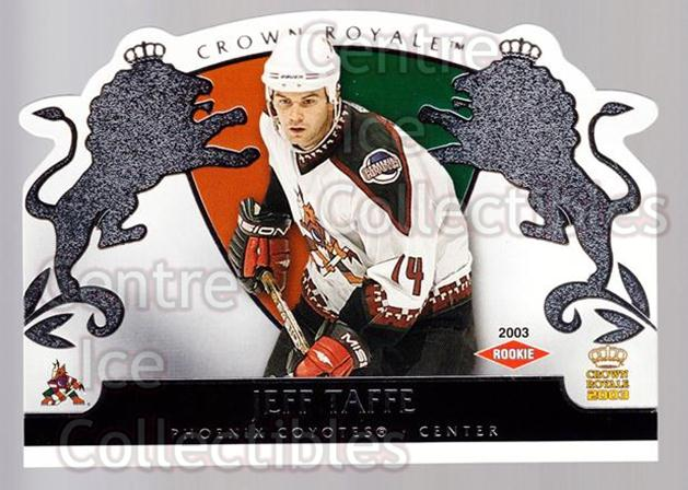 2002-03 Crown Royale Retail #132 Jeff Taffe<br/>3 In Stock - $3.00 each - <a href=https://centericecollectibles.foxycart.com/cart?name=2002-03%20Crown%20Royale%20Retail%20%23132%20Jeff%20Taffe...&quantity_max=3&price=$3.00&code=431318 class=foxycart> Buy it now! </a>