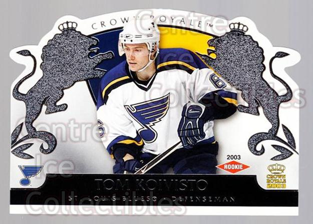2002-03 Crown Royale Retail #134 Tom Koivisto<br/>3 In Stock - $3.00 each - <a href=https://centericecollectibles.foxycart.com/cart?name=2002-03%20Crown%20Royale%20Retail%20%23134%20Tom%20Koivisto...&quantity_max=3&price=$3.00&code=431320 class=foxycart> Buy it now! </a>