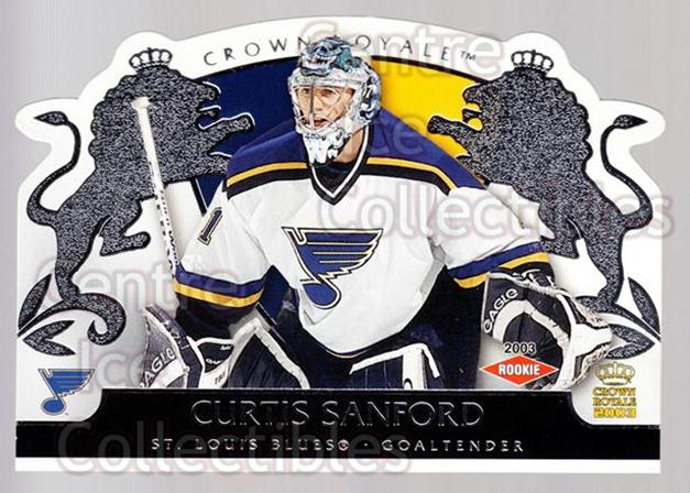 2002-03 Crown Royale Retail #135 Curtis Sanford<br/>2 In Stock - $3.00 each - <a href=https://centericecollectibles.foxycart.com/cart?name=2002-03%20Crown%20Royale%20Retail%20%23135%20Curtis%20Sanford...&quantity_max=2&price=$3.00&code=431321 class=foxycart> Buy it now! </a>