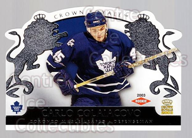 2002-03 Crown Royale Retail #138 Carlo Colaiacovo<br/>1 In Stock - $3.00 each - <a href=https://centericecollectibles.foxycart.com/cart?name=2002-03%20Crown%20Royale%20Retail%20%23138%20Carlo%20Colaiacov...&quantity_max=1&price=$3.00&code=431324 class=foxycart> Buy it now! </a>
