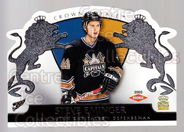 2002-03 Crown Royale Retail #139 Steve Eminger<br/>3 In Stock - $3.00 each - <a href=https://centericecollectibles.foxycart.com/cart?name=2002-03%20Crown%20Royale%20Retail%20%23139%20Steve%20Eminger...&quantity_max=3&price=$3.00&code=431325 class=foxycart> Buy it now! </a>
