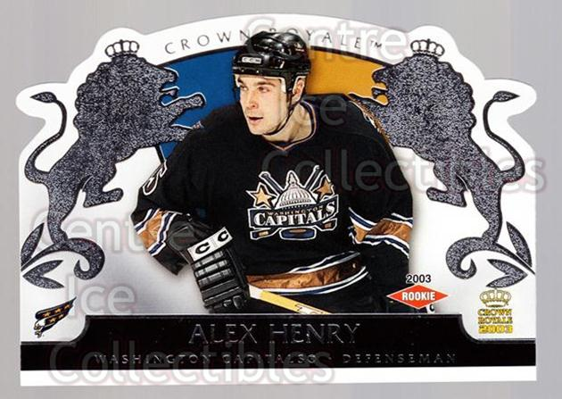 2002-03 Crown Royale Retail #140 Alex Henry<br/>3 In Stock - $3.00 each - <a href=https://centericecollectibles.foxycart.com/cart?name=2002-03%20Crown%20Royale%20Retail%20%23140%20Alex%20Henry...&quantity_max=3&price=$3.00&code=431326 class=foxycart> Buy it now! </a>