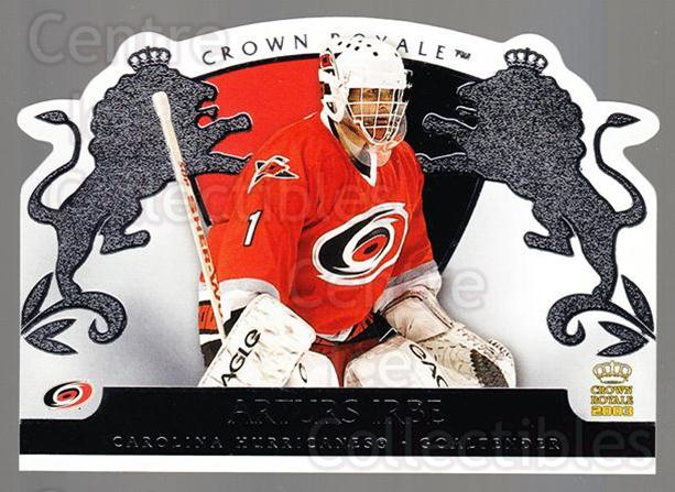 2002-03 Crown Royale Retail #18 Arturs Irbe<br/>1 In Stock - $2.00 each - <a href=https://centericecollectibles.foxycart.com/cart?name=2002-03%20Crown%20Royale%20Retail%20%2318%20Arturs%20Irbe...&quantity_max=1&price=$2.00&code=431330 class=foxycart> Buy it now! </a>