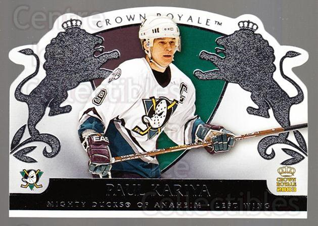 2002-03 Crown Royale Retail #2 Paul Kariya<br/>3 In Stock - $2.00 each - <a href=https://centericecollectibles.foxycart.com/cart?name=2002-03%20Crown%20Royale%20Retail%20%232%20Paul%20Kariya...&quantity_max=3&price=$2.00&code=431332 class=foxycart> Buy it now! </a>